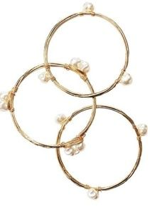 3 piece goldtone bangle set.